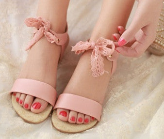 Women Sandals 2017 New summer PU leather breathable Brand Casual Shoes Woman Korean Fashion Lace Bandage Flats With Shoes