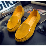 plus size Spring Autumn Women Loafers Candy Color Flats Boat Shoes Cute Slip on Flat Shoes Ballet Flats Car Shoes Suede loafer - Raja Indonesia