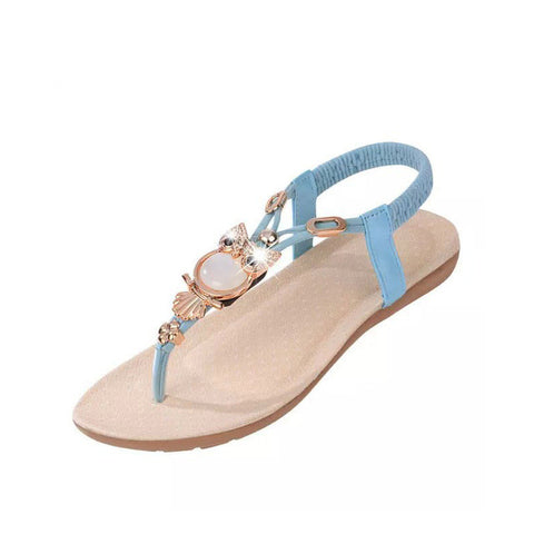 Hot Sale 2017 New Fashion Women Sandals Beaded Ladies Flip Flops Bohemia Woman Shoes Comfort Beach Summer Flat Sandals BT143 - Raja Indonesia