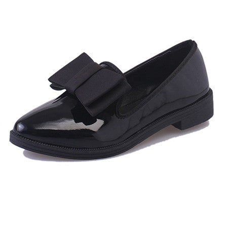 2016 spring NEW women flats Fashion Women Shoes sweety bowtie patent leather Casual Comfortable Rubber Women Flat Shoe ALF521 - Raja Indonesia