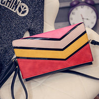 2016 Rainbow Women Clutch Bag Purse Handbag Designer Handbags High Quality PU Leather Envelope Clutch Crossbody Bags For Women - Raja Indonesia