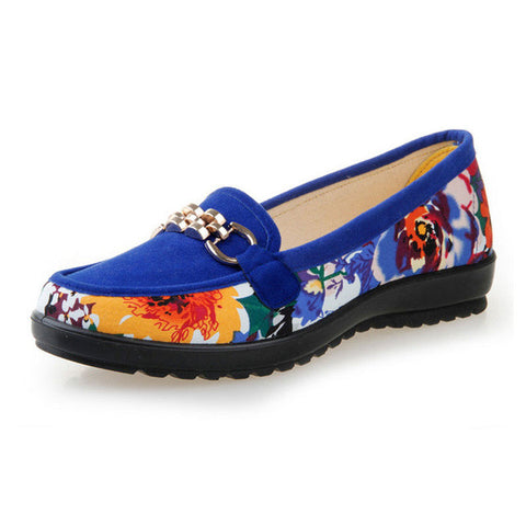 HEE GRAND New Floral Loafers Women's Shoes Traditional Manual Flats Sequined Chains Shallow Slip-on Elastic Shoes Woman XWC714 - Raja Indonesia