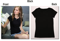 2016 New High Quality 18 Color Simple T Shirt Women Solid color Tees Plain Cotton short sleeve T-shirt Female Tops Black 0002 - Raja Indonesia