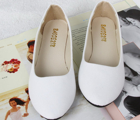 20 Colors Available 2016 Fashion Soft Shoes For Female Women Flat Shoes Round Toe Daily Casual Shoe Plus Size FB0048 - Raja Indonesia