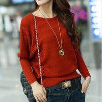 2016 spring autumn womens knit pullover batwing shirt Hollow out long-sleeve o-neck sweater female sweaters - Raja Indonesia