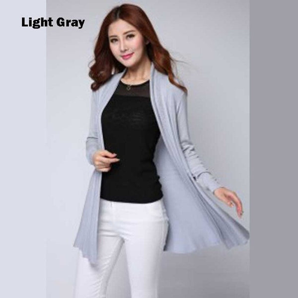 2016 New Women Cardigan Knitwear Oversize Autumn Cardigan Sweater Poncho Long Cardigan Women Long Knitted Cardigans Coat Female - Raja Indonesia