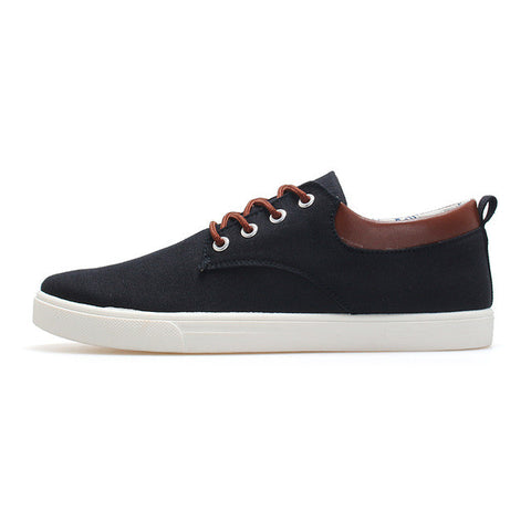 2016 Spring Canvas Shoes Men Shoe New Hot Zapatos Hombre Mens Fashion Zapatos Casual Schoenen Man Solid Color Lace-up Schuhe - Raja Indonesia