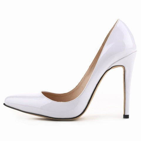 Loslandifen brand new women's pumps high heels shoes woman wedding party dress ladies pointed toe stiletto size 35-42 11cm high - Raja Indonesia