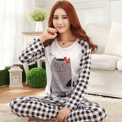 New Listing WAVMIT 2017 Spring Pyjamas Women Carton Cute Pijama Pattern Pajamas Set Thin Pijamas Mujer Sleepwear 90S Wholesale - Raja Indonesia
