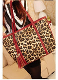 2017 New Women Leopard Handbag Famous Brand Vintage Shoulder Bag Casual High Quality PU Leather Tassel Totes Bag Bolsas Mujer - Raja Indonesia