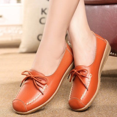 2016 spring and autumn new lace mother shoes fashion shallow mouth Peas shoes tendon at the end casual shoes, free shipping - Raja Indonesia