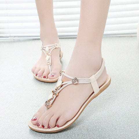 Women's sandals Summer Women Flats Sandals Bohemia Style Ladies Sandals