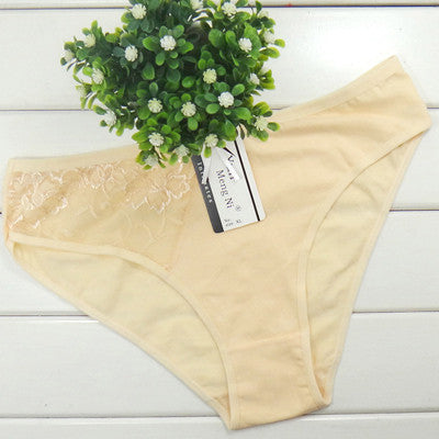 2016 Sale Solid Gas Women Underwear Thongs Ladies Briefs Factory Direct Wholesale Sexy Lace Cotton Women's Panties - Raja Indonesia