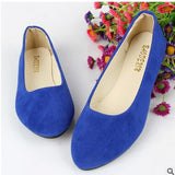 BIG size 2016 spring and autumn fashion pointed shoes women flat shallow mouth candy-colored women's shoes size foreign trade - Raja Indonesia
