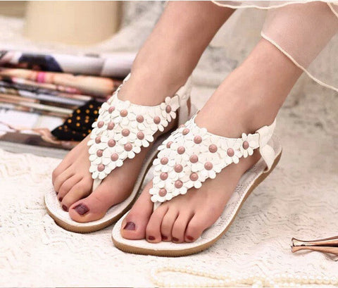 Flower Women Sandals Fashion Women Flat Sandals Summer Shoes Ladies Sandals - Raja Indonesia