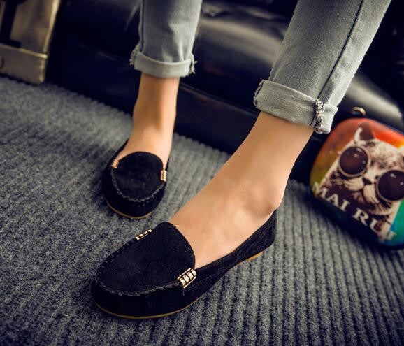 2016 spring summer women casual shoes solid slip-on women flats loafers comfortable women flat shoes chaussure femme - Raja Indonesia