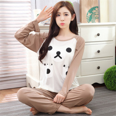 New Listing WAVMIT2016 Winter Pyjamas Women Carton Cute Pijama Pattern Pajamas Set Thin Pijamas Mujer Sleepwear 90S Wholesale - Raja Indonesia