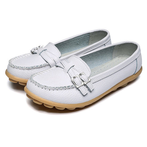 Woman moccasins Genuine Leather Women's Loafer made of genuine leather 7 Colors Women's Flat Shoes Moccasins Plus Size 35-41
