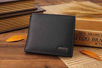 100% genuine leather mens wallet premium product real cowhide wallets for man short black walet portefeuille homme - Raja Indonesia