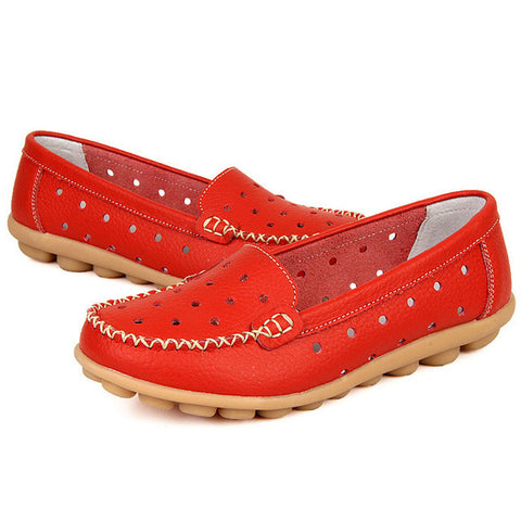 Boat shoes Woman 2016 Genuine Leather Women Shoes Flats 7 Colors Loafers Slip On Women's Flat Shoes Moccasins Plus Size - Raja Indonesia