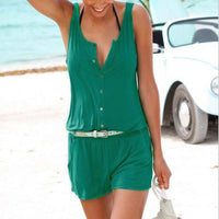 1 Piece Short Pants Suit Sexy Summer Shorts Sleeveless ZY8206 - Raja Indonesia