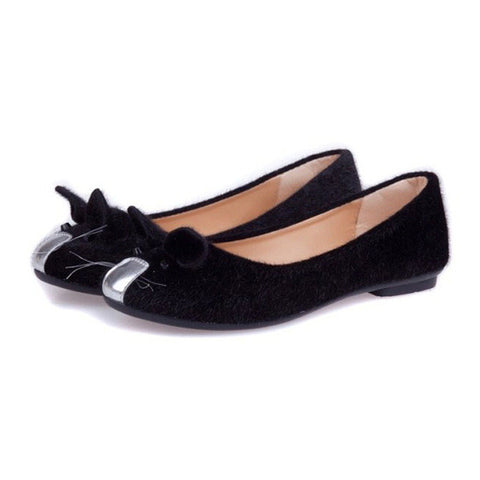 Hot-Selling Cute Mouse Design Spring and Autumn Flats for Women Single Shoes Fashion Flat Heel Shoes Women's Flats Free Shipping - Raja Indonesia
