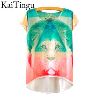 2016 Brand New Fashion Summer Asymmetric High Low Style Harajuku Magic Unicorn Print Short Sleeve T Shirt Summer Tops For women - Raja Indonesia