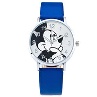2016 Fashion Watch Mickey Mouse Children Cartoon Watch Leather Wristwatch Casual Kid Boy Quartz Watch Women Girls Relojes 1961 - Raja Indonesia