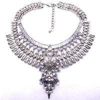 2015 Newest  Maxi Big Brand Vintage Big Metal Accessories Statement Bead Alloy Necklaces & Pendants Collar Choker Necklace B3316 - Raja Indonesia