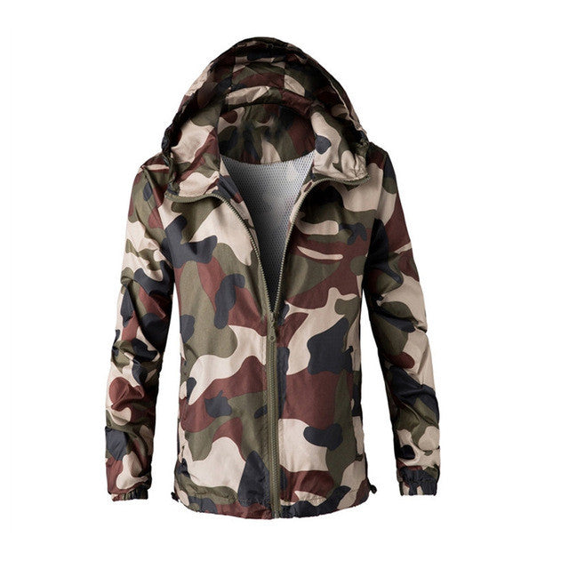 783ebf4fb14af ... Military Outdoors Jacket Mens Autumn Winter Army Tactical Jacket  Fashion Camo Hooded Windbreaker Camouflage Coat Plus