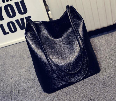 Large Capacity Ladies Shopping Bag Bolsa Designer Women Leather Handbags Black Bucket Shoulder Bags Lady Cross Body Bags C1437KK