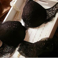 6 Colors Set Push Up Solid 32A-38C Bra Women Deep V Lace Decro Underwire Outfit Sexy Bra - Raja Indonesia