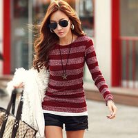 2016 New Fashion Autumn Sweater Korean Fall Women Sweaters and Pullovers Cashmere Thin Wool Pullover Knitted Long Sleeve - Raja Indonesia