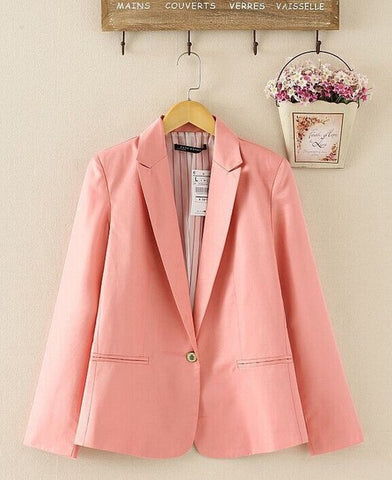 Za new hot stylish and comfortable women's Blazers Candy color lined with striped Z suit   Free Shipping WL2314