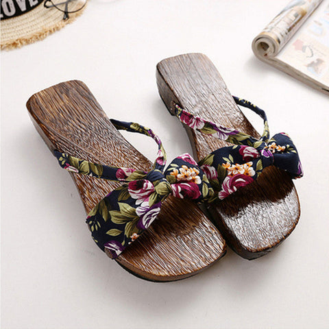 2016 Summer Women Sandals Japanese Geta For Women Candlenut Clogs Shoes Woman Sandals Cosplay Flip Flops Sandalias Mujer#SJL361 - Raja Indonesia