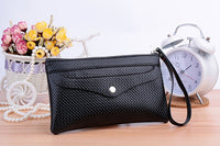 2016 New Colorful PU Leather Versatile Zipper Day Clutches Key Case Wallet Coin Purse Clutch Wallet Card Holder - Raja Indonesia