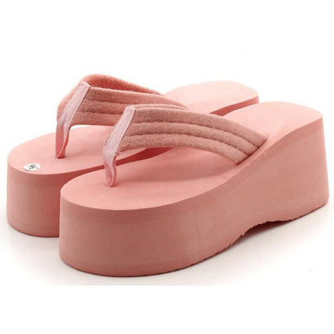 HEE GRAND Trifle Flip Flops Women Platform Simple Casual Solid Summer Style Sandals Thick Botton Beach Shoes Woman XWZ2335 - Raja Indonesia