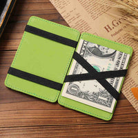 2017 Brand fashion Vintage Style High quality PU leather magic wallet men's mini multifunctional card holder brand magic wallets - Raja Indonesia