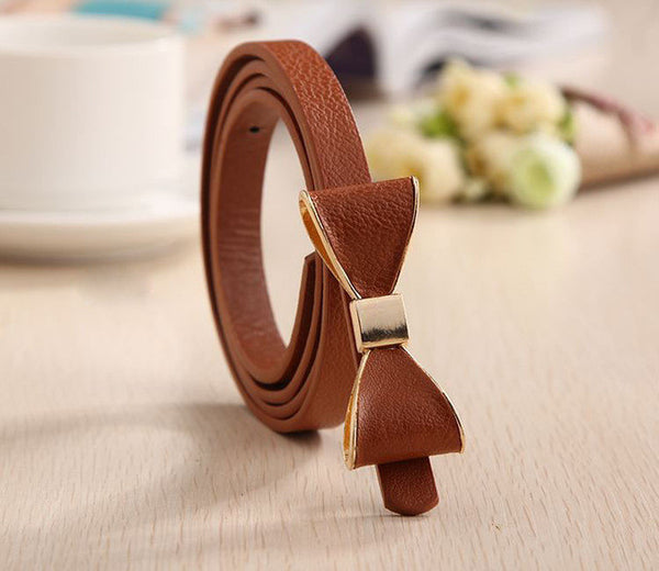 2017 Style Summer 13 Color Women Belt Luxury Brand Colorful Belts for Women Bow Leather Belt Female Waist Ceinture Femme - Raja Indonesia
