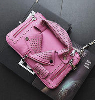 2016 women bags Designer clutch fashion rivet motorcycle shoulder bag new summer fashion handbag chain Crossbody casual Bag - Raja Indonesia