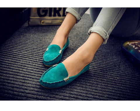 New women's candy color shoes Spring autumn cute slip on low heel ladies shoes boat shoes ballet flats women flat shoes - Raja Indonesia