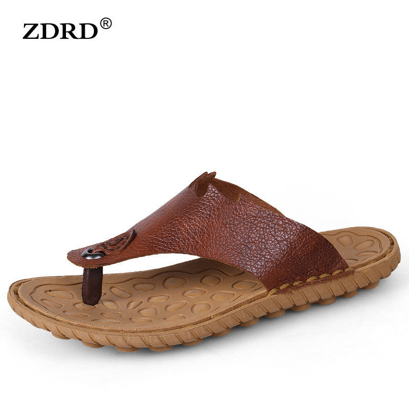 c5ffd7a57f2b 2017 Handmade Men Sandals Fashion Men Leather Slippers Summer Beach Sh –  Raja Indonesia