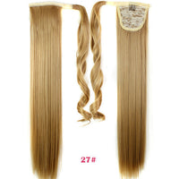 24inch Black Synthetic Long Straight Clip In Ribbon Ponytail Hair Extension hairpiece my little pony Tail Hair Pieces 15 Colors - Raja Indonesia