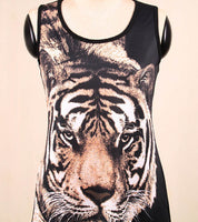 2017 new fashion Summer Tiger Animal Printing Chiffon Camisole Sleeveless tops - Raja Indonesia