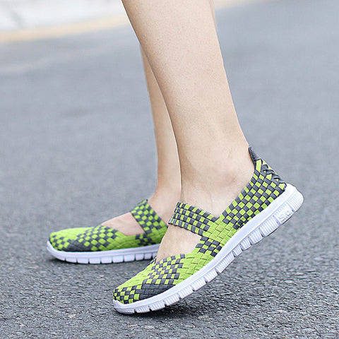 Women Casual Shoes 2017 Summer Breathable Handmade Women Woven Shoes Fashion Comfortable Sport Women Shoes