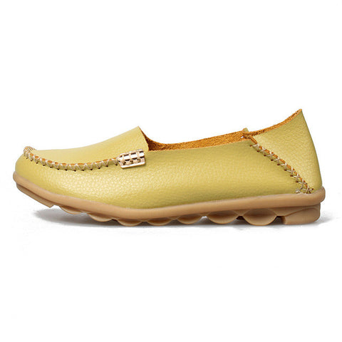 plardin 2016 Genuine Leather Women Ballet Flats 16 Colors Shoes Woman Flat Loafers Women's Genuine Leather Nurse Casual Shoes - Raja Indonesia