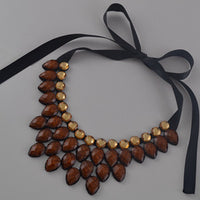 2015 fashion short statement necklace and pendant resin color fashionable woman drops necklace gift - Raja Indonesia