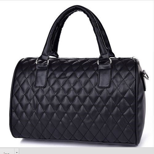 2017 hot sale woman fashion PU leather handbags Vintage solid Zipper messenger bags Top handlebags - Raja Indonesia