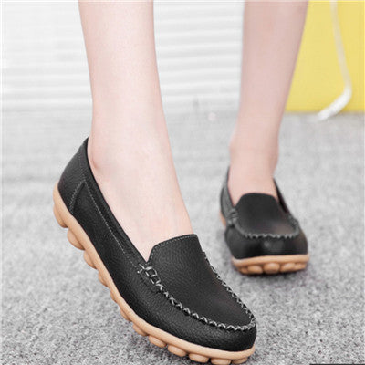 women flats 2016 genuine leather mother shoes casual women driving shoes flat shoes women moccasins ballet flats 2016 new DT204