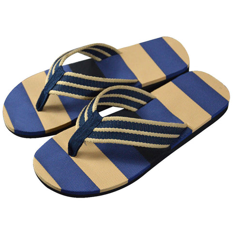 2017 Fashion Men Flip flops Summer Stripe Flip Flops Shoes Sandals Breathable Slides Mens Brand Designer Comfort Flats - Raja Indonesia